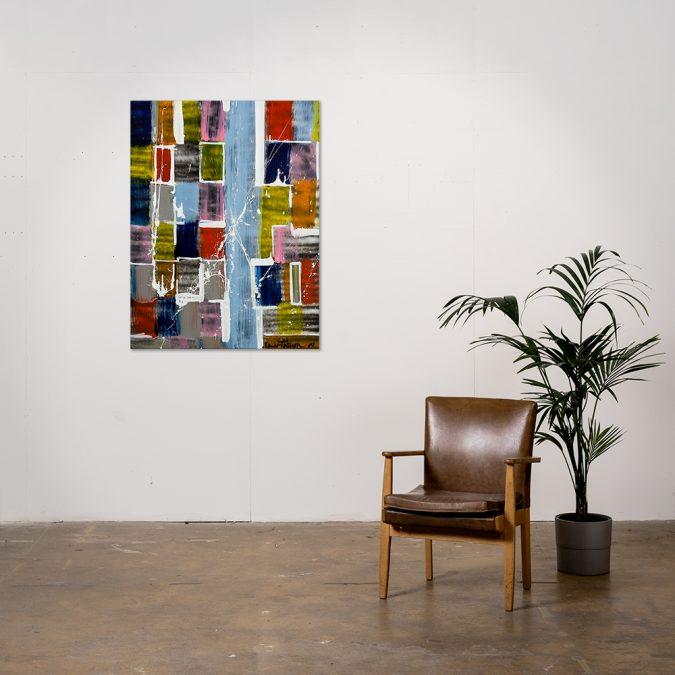 Abstract Painting Oscar T Wilson